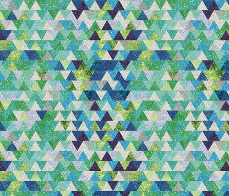 Ombre Triangles- Winter fabric by cynthiafrenette on Spoonflower - custom fabric