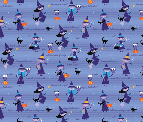 Little Witches fabric by cynthiafrenette on Spoonflower - custom fabric