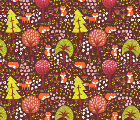 foxies_worlds fabric by stacyiesthsu on Spoonflower - custom fabric