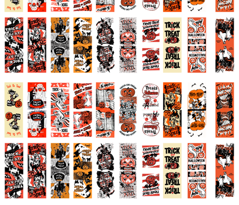 Halloween treat bags fabric by heidikenney on Spoonflower - custom fabric