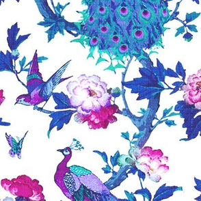 Vintage Peacock (Purple + White)