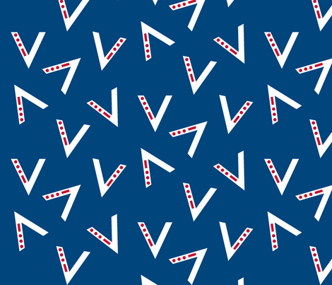V for Victory - Blue fabric by luckylucille on Spoonflower - custom fabric