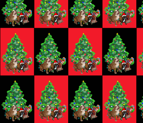 bulldog_christmas_fabric fabric by dogdaze_ on Spoonflower - custom fabric