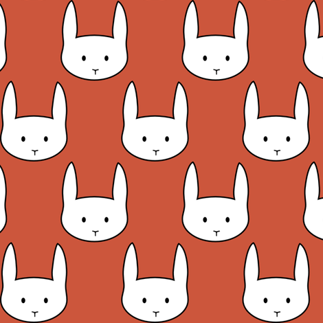 Red Rabbit fabric by mrshervi on Spoonflower - custom fabric