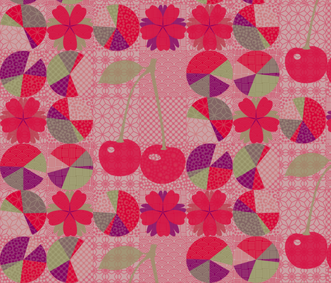 j-pop cherry pie fabric by mimihammill on Spoonflower - custom fabric