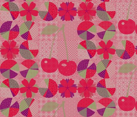 j-pop cherry pie fabric by mimihammill on Spoonflower - custom fabric