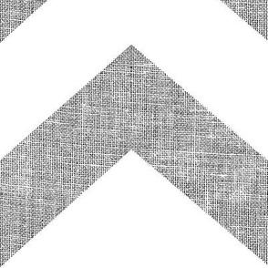 chevron burlap / CP white
