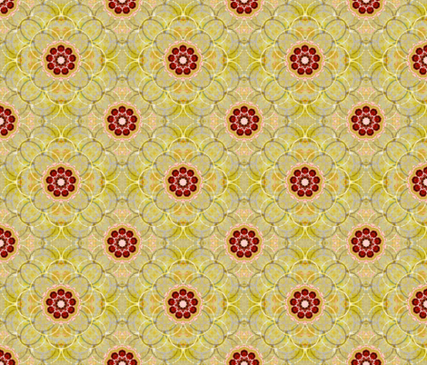 Scallops in gold fabric by joanmclemore on Spoonflower - custom fabric