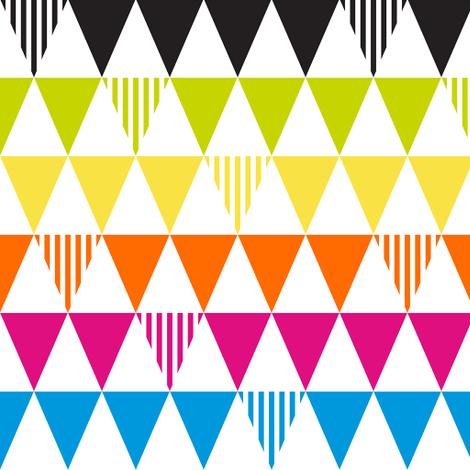 triangle neons fabric by srbracelin on Spoonflower - custom fabric