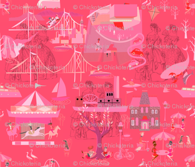 Hot Pink Heather Toile