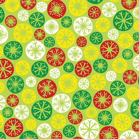 Festive Snow Daze (Light Green) fabric by robyriker on Spoonflower - custom fabric
