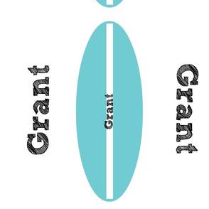Surfboard Ocean/Black Personalized