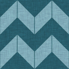 Boho Chevron  (teal and smoke)