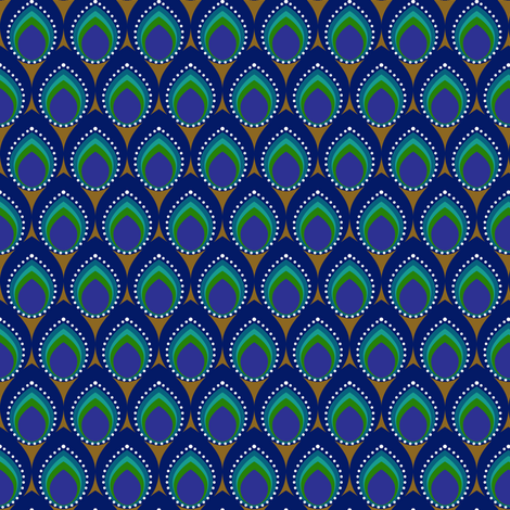 I got the peacock blues fabric by vo_aka_virginiao on Spoonflower - custom fabric