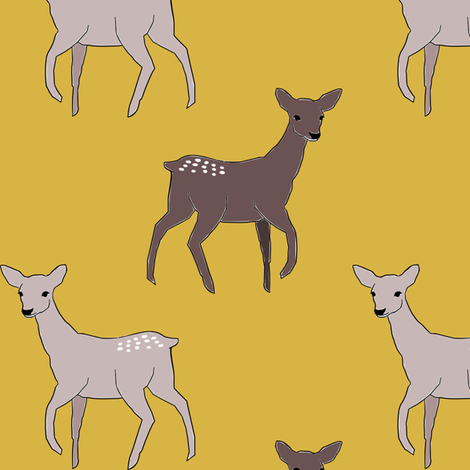 GoldenDeer fabric by mrshervi on Spoonflower - custom fabric