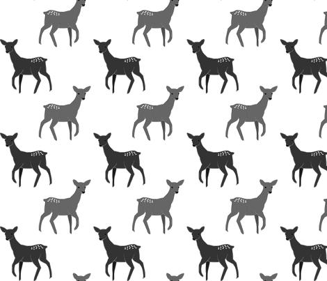 DeerSketch fabric by mrshervi on Spoonflower - custom fabric