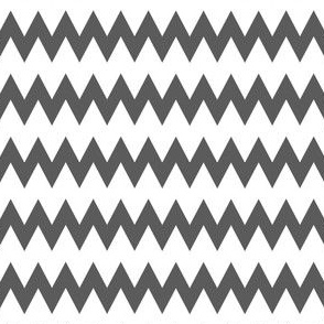 White and Grey Zig Zags