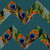 Boho Chevron (Peacock and Teal)