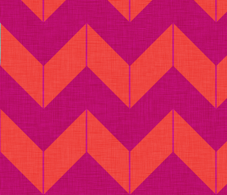 Boho Chevron (Raspberry and Watermelon) fabric by nouveau_bohemian on Spoonflower - custom fabric