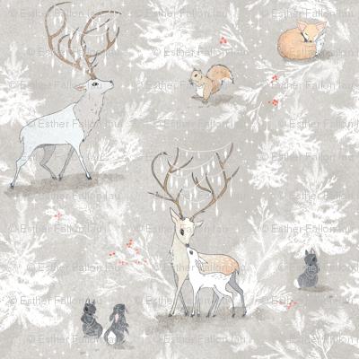 Vintage Woodland Christmas (SMALL)