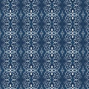 Damask Indigo Batik Design