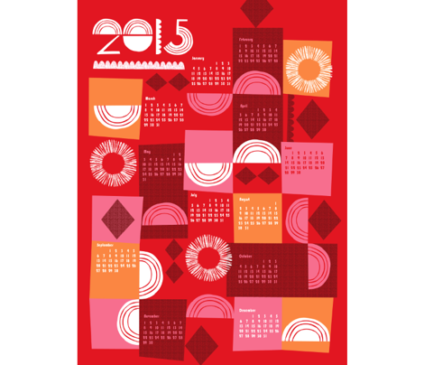 2015 juxtaposition calendar-27 inches wide