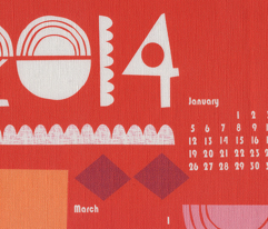 2014 juxtaposition calendar-27 inches wide