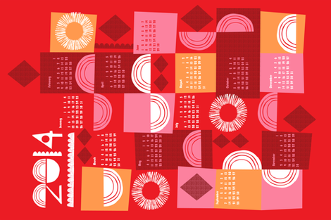 2014 juxtaposition calendar-27 inches wide fabric by ottomanbrim on Spoonflower - custom fabric