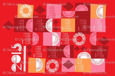 2015 juxtaposition tea towel calendar-27 inch
