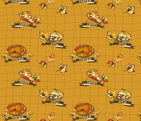 Hope You Like Pie!  fabric by yourfriendamy on Spoonflower - custom fabric
