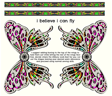 I believe I can fly fabric by whimzwhirled on Spoonflower - custom fabric