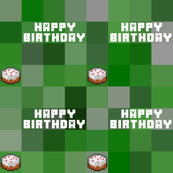 Birthday Creeper Check Child Life Size Squares
