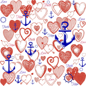 Hearts and anchors