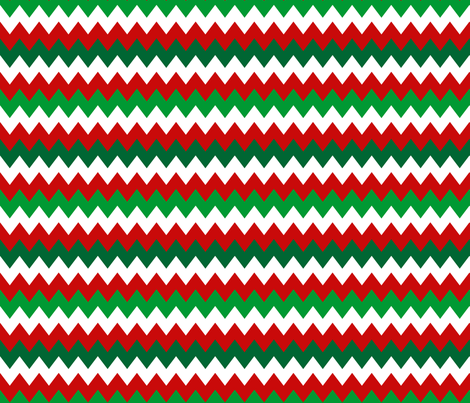 Holiday Chevrons fabric by implexity on Spoonflower - custom fabric