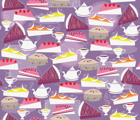 PIE time fabric by zapi on Spoonflower - custom fabric