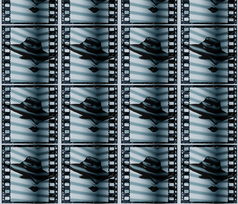 Film Noir_lady in the shadows fabric by treehousedesignstudio on Spoonflower - custom fabric