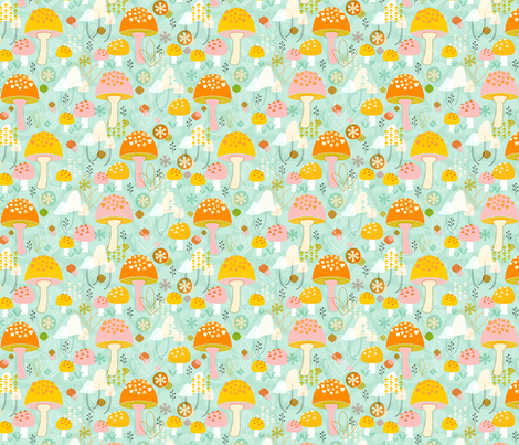 Magnificent Mushrooms fabric by nadiahassan on Spoonflower - custom fabric