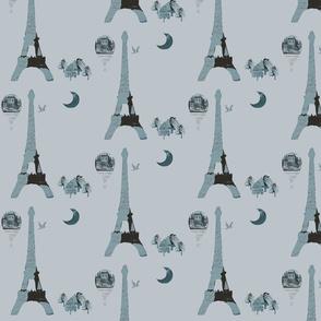 Eiffel Tower Gray-ch