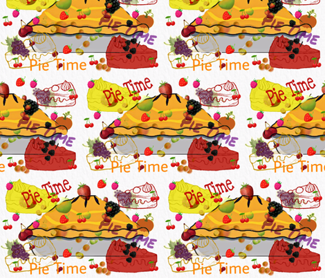 Pie Time fabric by charldia on Spoonflower - custom fabric