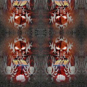 Biker Bandana Fiery Skulls