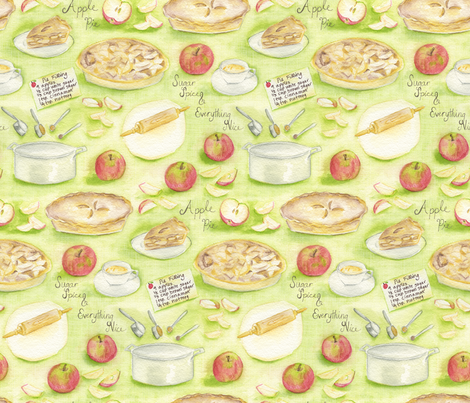 Apple Pie fabric by jillbyers on Spoonflower - custom fabric