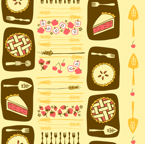 Delightful & Delectable: Pie fabric by tonia_dee on Spoonflower - custom fabric