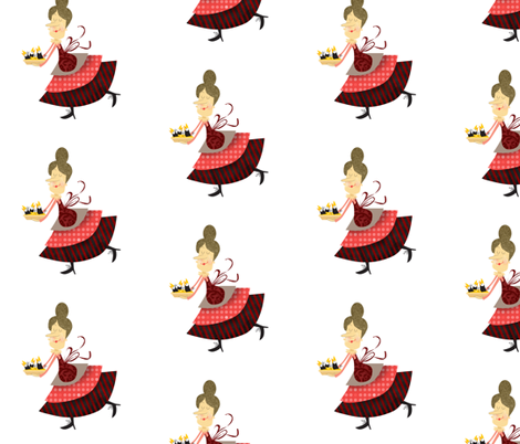 Baked in a Pie 2 fabric by mulberry_tree on Spoonflower - custom fabric