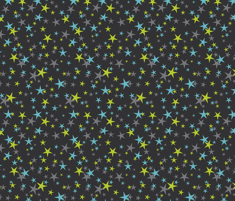 halloween stars blue green fabric by cjldesigns on Spoonflower - custom fabric