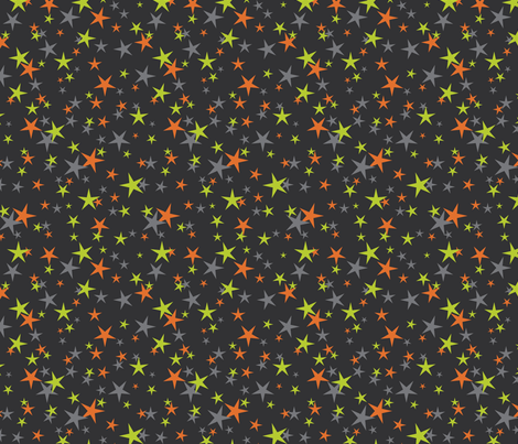 halloween stars green orange fabric by cjldesigns on Spoonflower - custom fabric