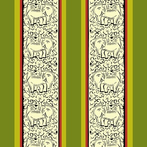 Holiday India Block Printed Wrapping Paper