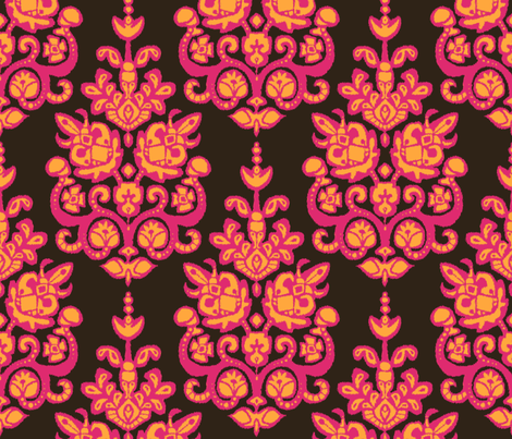 Akuti damask ikat fabric by scrummy on Spoonflower - custom fabric