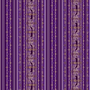 Running Greyhound Stripe, Purple and Yellow