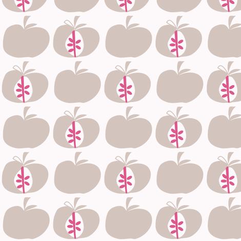 Apples Dusty Pink fabric by leeandallandesign on Spoonflower - custom fabric