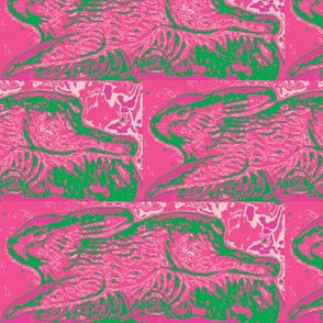 running rabbits, chocolate mold in pink